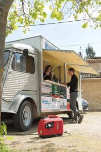 Groupe électrogène silencieux pour alimenter un food truck