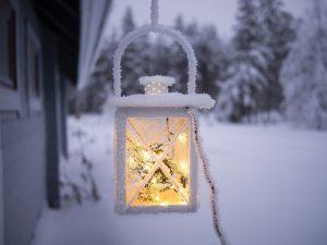 Lampe éclairé hiver groupe