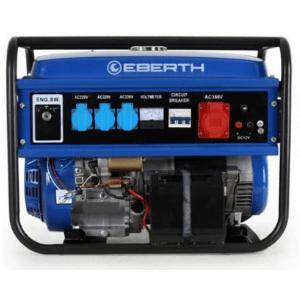 groupe électrogène triphasé Eberth 5500w bleu