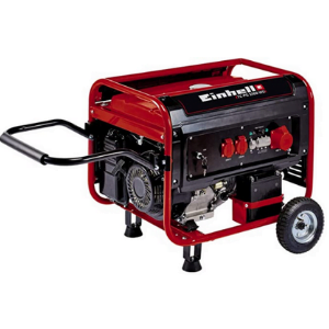 groupe électrogène essence TC-PG 5500WD rouge avec grande poignée
