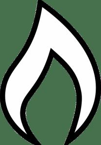 flamme noir et blanche groupe électrogène gaz