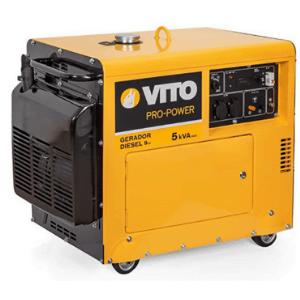 groupe électrogène diesel Vitopower 5000w jaune