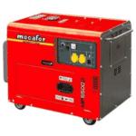 groupe électrogène mecafer diesel 5000w rouge AVR