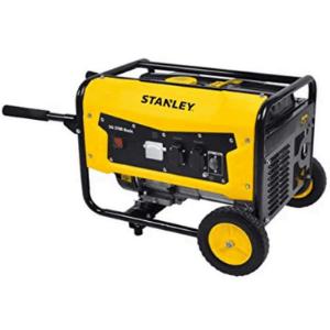 groupe électrogène AVR STANLEY monophasé 7cv 3100W couleur jaune avec des roues