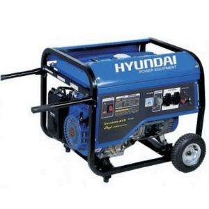 groupe électrogène 4000w Hyundai HG4000-A de couleur bleu avec deux poignées
