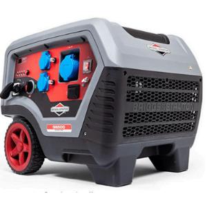 groupe électrogène 5000w Quiet Power Technoloy de Briggs et Stratton gris et rouge