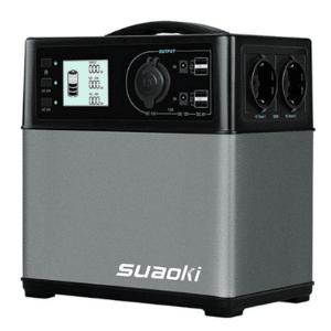 groupe électrogène camping-car solaire Suaoki 400Wh gris
