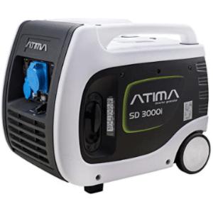 groupe électrogène 3000w Atima SD3000i blanc et noir