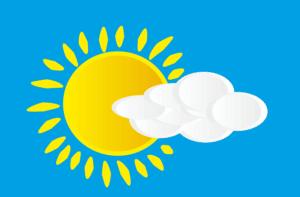 soleil avec ciel bleu