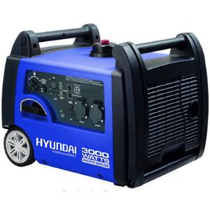 groupe electrogene hyundai 4000w bleu avec des roues